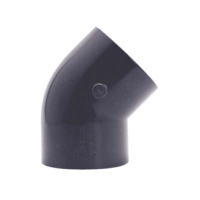 PVC vinkel 45° Ø 50 mm, limmuff